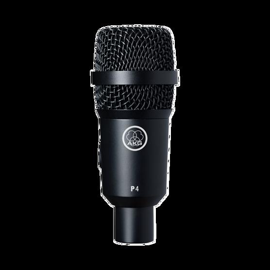 P4 - Black - High-performance dynamic instrument microphone - Hero