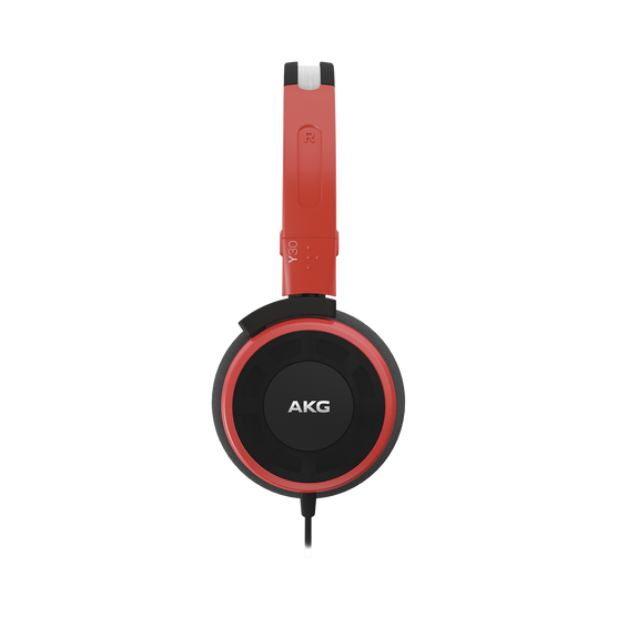 Y 30 - Red - Stylish, uncomplicated, foldable headphones with 1 button universal remote/mic - Detailshot 1