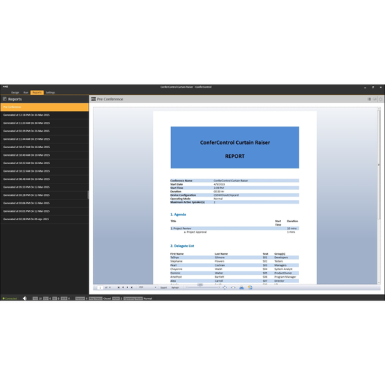 CC V3 - Black - CS5 & CS3 CONFERCONTROL SOFTWARE - Detailshot 4