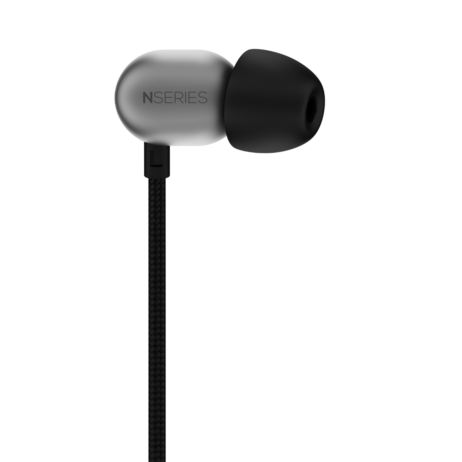 N20U - Silver - Reference class in-ear headphones with universal 3 button remote. - Back