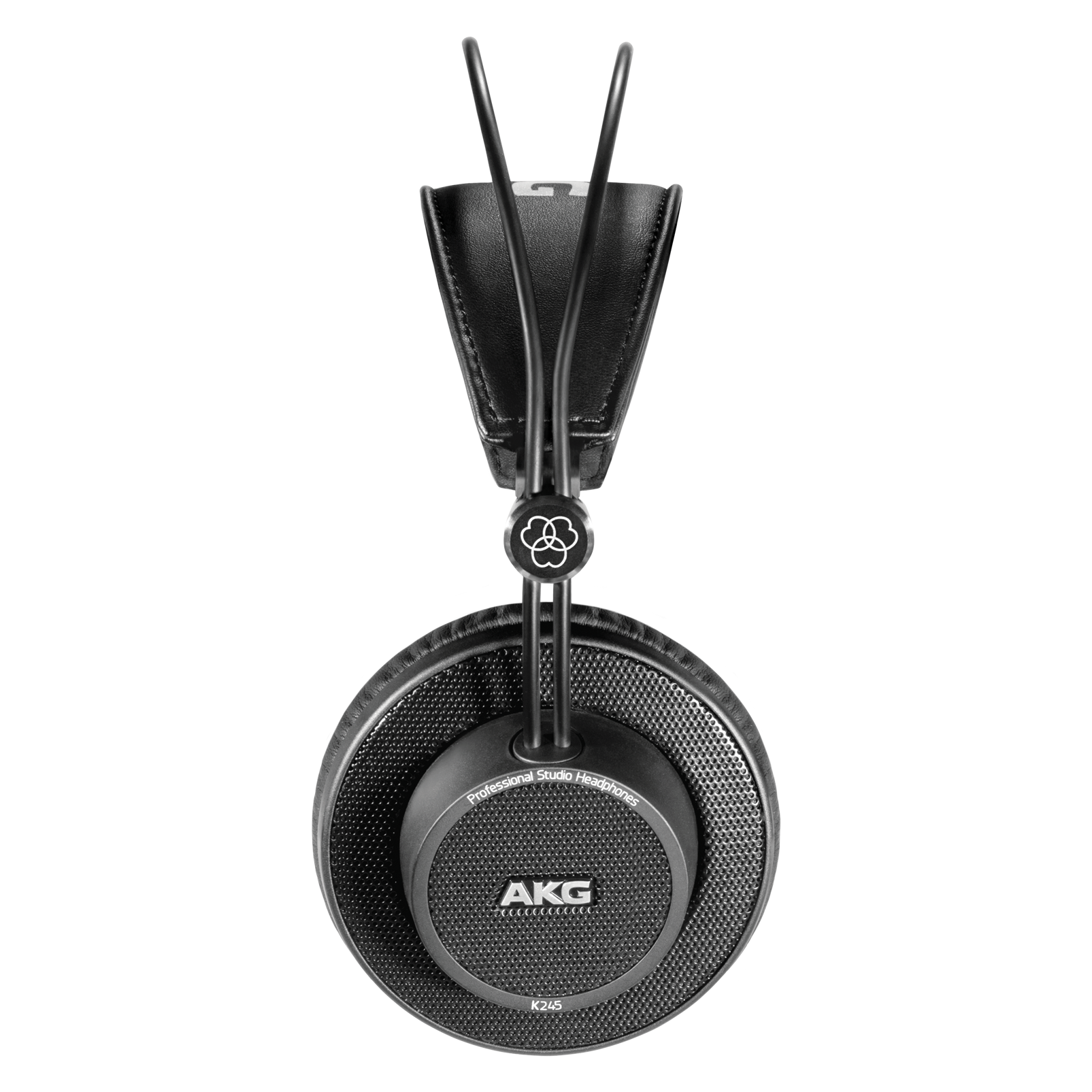 K245 - Black - Over-ear, open-back, foldable studio headphones - Left