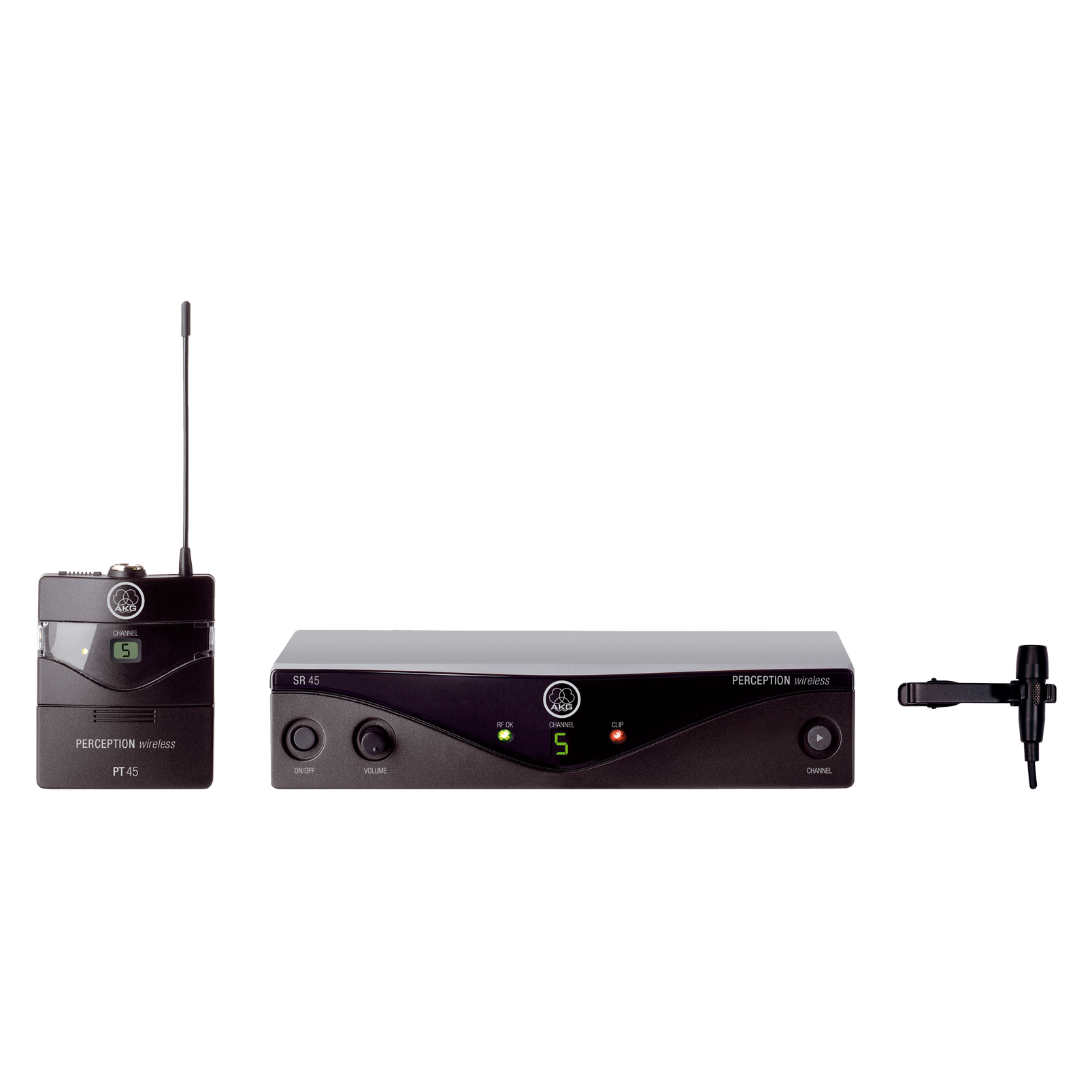 Perception Wireless 45 Presenter Set Band-C2 - Black - High-performance wireless microphone system - Hero