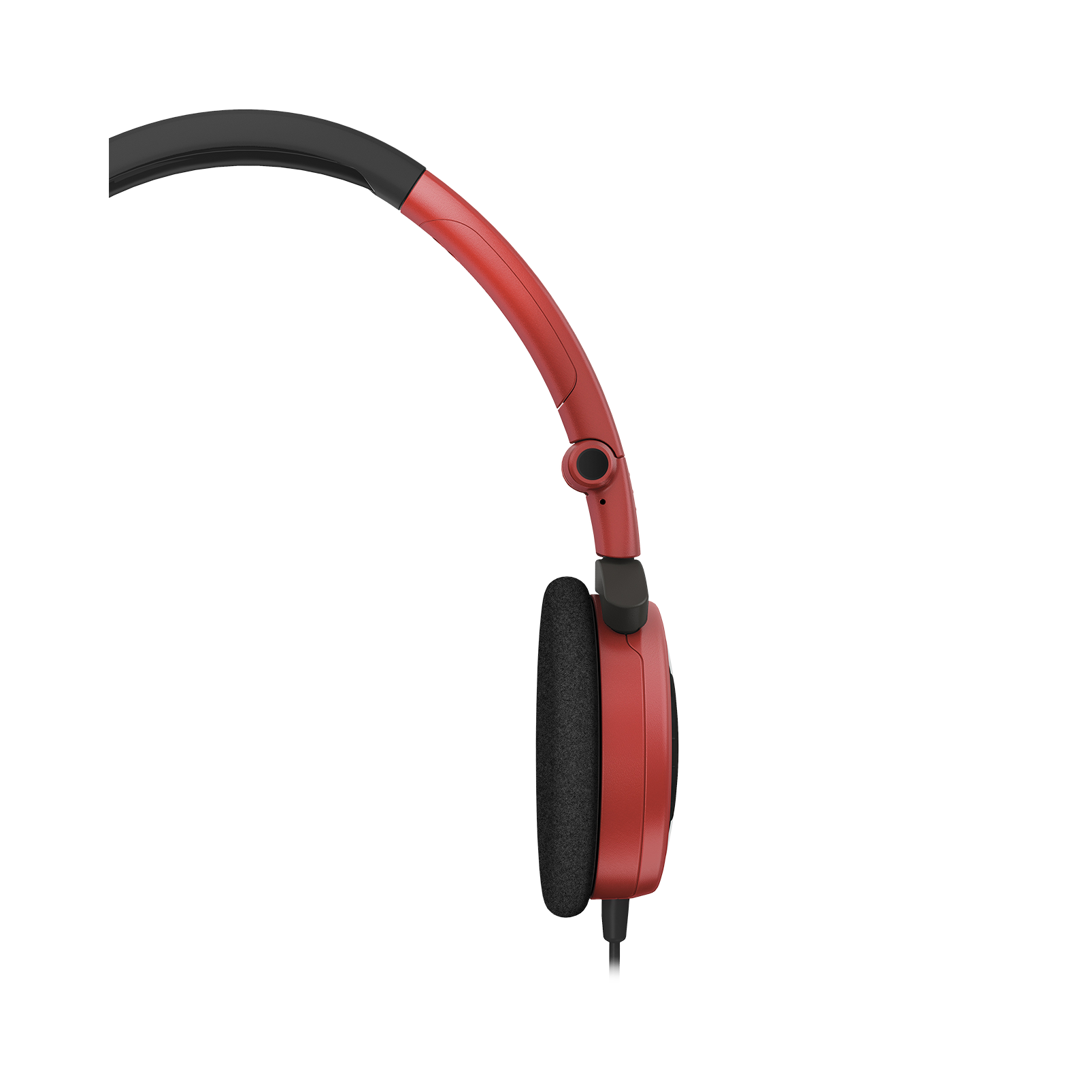 Y 30 - Red - Stylish, uncomplicated, foldable headphones with 1 button universal remote/mic - Detailshot 2